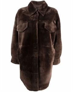 Двустороннее пальто с мехом Blancha