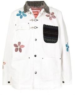 Джинсовая куртка с цветочной аппликацией Alchemist