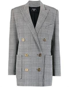 Однобортный пиджак в ломаную клетку Balmain