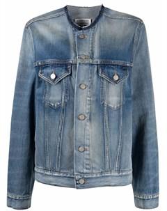 Джинсовая куртка без воротника Maison margiela