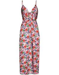 Платье миди с принтом Flora Borgo de nor