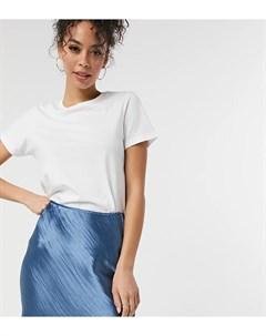 Синевато стальная мини юбка из блестящего атласа в стиле комбинации ASOS DESIGN Tall Asos tall