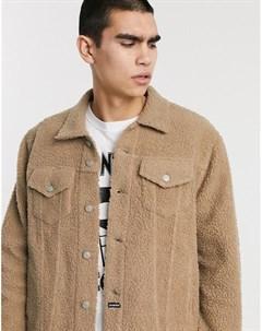 Бежевая плюшевая куртка Les (art)ists