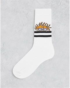 Спортивные носки крупной вязки с полосками и принтом персонажа из м ф Ох уж эти детки Asos design