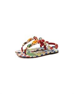 Кожаные сандалии Infradito Dolce&gabbana