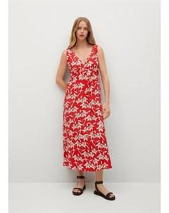 Принтованное платье с разрезами Becca Mango