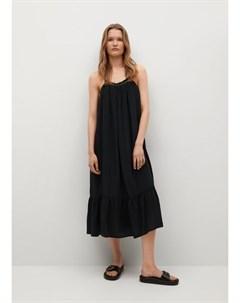 Платье с металлическими деталями Vale Mango