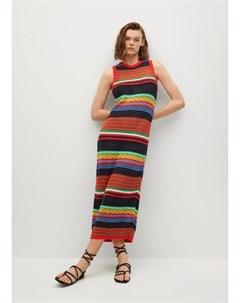 Платье из трикотажа с хлопком Colori i Mango