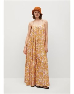 Платье с макси воланами Parachut Mango