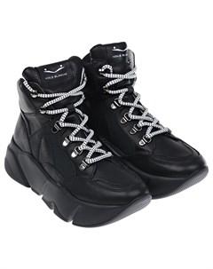 Высокие черные кроссовки Voile blanche