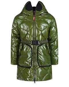 Зеленое стеганое пальто детское Ai riders on the storm
