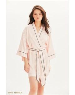 Халат кимоно из атласа Love republic