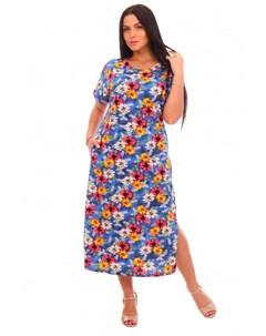 Платье трикотажное Гликерия синее Инсантрик