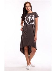 Платье трикотажное Арселия коричневое Инсантрик
