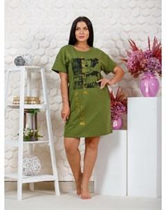 Платье трикотажное Дейзи хаки Инсантрик