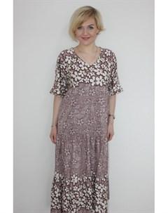 Платье трикотажное Миллиана кофейное от Инсантрик