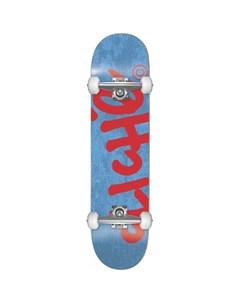Скейтборд комплект детский CLICHE Handwritten Yth Fp Blue Red 7 375 2021 Cliche