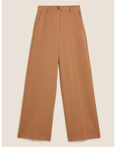 Широкие брюки с высокой талией Marks & spencer