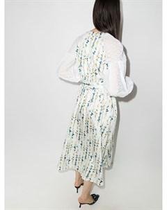 Платье Mia с цветочным принтом и объемными рукавами Borgo de nor