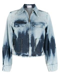 Джинсовая куртка с эффектом потертости Andrea bogosian