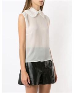 Полупрозрачная блузка Regata с кружевным воротником Andrea bogosian