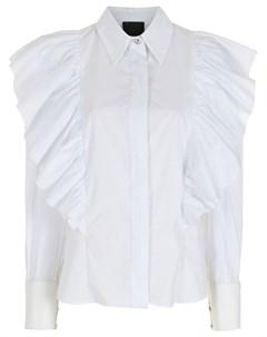 Поплиновая рубашка с оборками Andrea bogosian