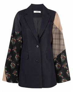 Однобортный пиджак с рукавами кап Besfxxk