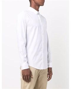 Рубашка с длинными рукавами и нашивкой логотипом Emporio armani
