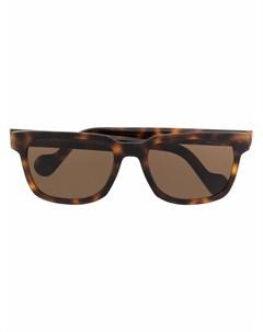 Очки в оправе черепаховой расцветки Moncler eyewear