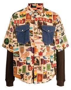 Рубашка с принтом Dsquared2