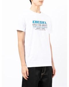 Футболка с графичным принтом Diesel