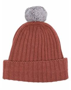Кашемировая шапка бини с помпоном Eleventy
