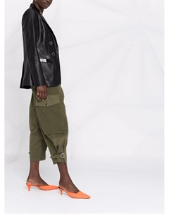 Двубортный пиджак из искусственной кожи Pinko