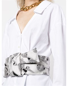 Удлиненная рубашка с поясом Hellessy