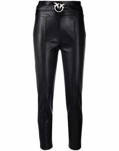 Укороченные брюки с завышенной талией и поясом Pinko