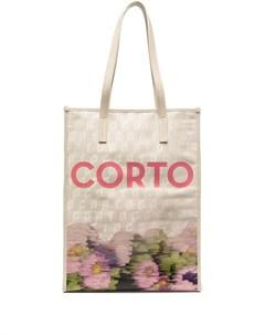 Жаккардовая сумка тоут Shopper Corto moltedo