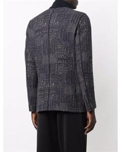 Однобортный пиджак с абстрактным принтом Giorgio armani