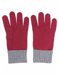 Кашемировые перчатки в двух тонах Eleventy