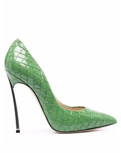 Туфли Blade с тиснением под кожу крокодила Casadei