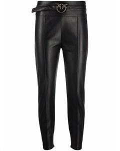 Узкие брюки из искусственной кожи Pinko