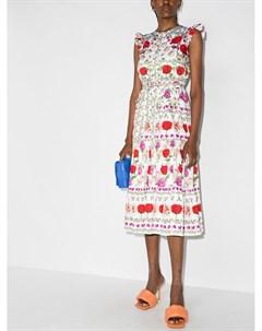 Платье мини Daisy с оборками Borgo de nor