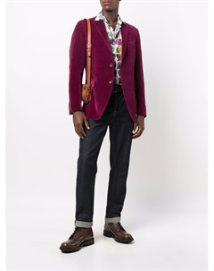 Однобортный бархатный пиджак Etro