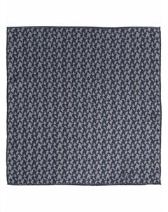 Шелковый платок с абстрактным принтом Canali