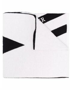 Полосатый шарф с логотипом Moncler