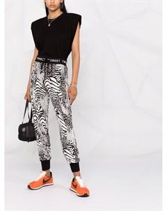 Спортивные брюки с анималистичным принтом Twinset