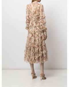 Платье Garland Flora с оборками Needle & thread