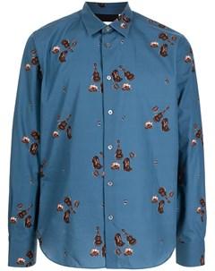 Рубашка Cowboy Campfire с принтом Paul smith
