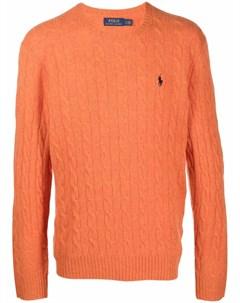 Джемпер фактурной вязки с вышитым логотипом Polo ralph lauren