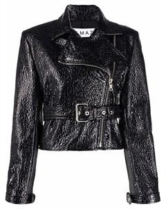 Куртка из зернистой кожи Almaz