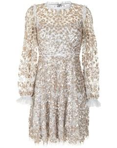 Расклешенное платье с пайетками Needle & thread
